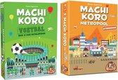 Spellenbundel - 2 stuks - Machi Koro - Voetbal editie & Metropool (Basisspel niet inbegrepen)