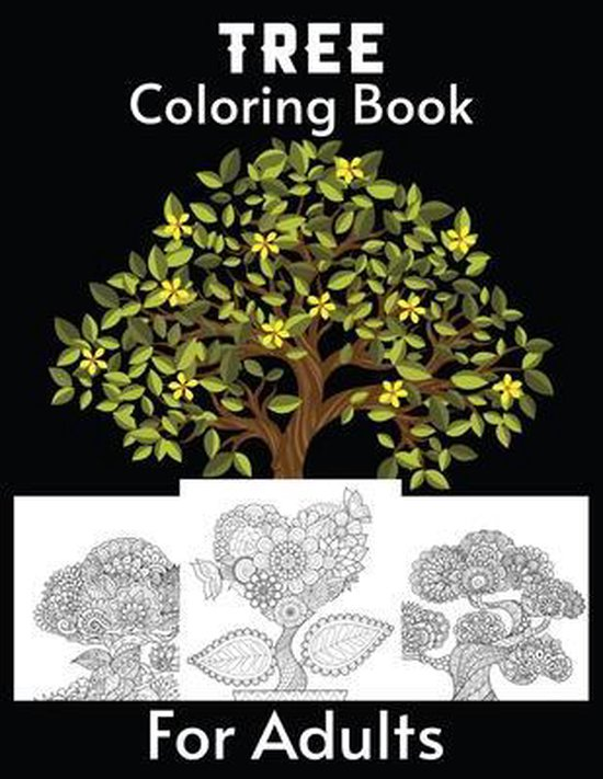 Tree Coloring Book For Adults