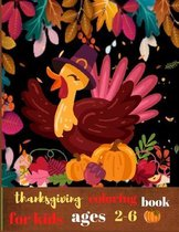 Thanksgiving coloring book for kids ages 2-6