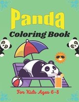 PANDA Coloring Book For Kids Ages 6-8