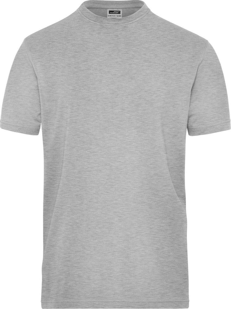 James and Nicholson Heren Organisch Katoenen Stretch T-Shirt (Grijze Heide)