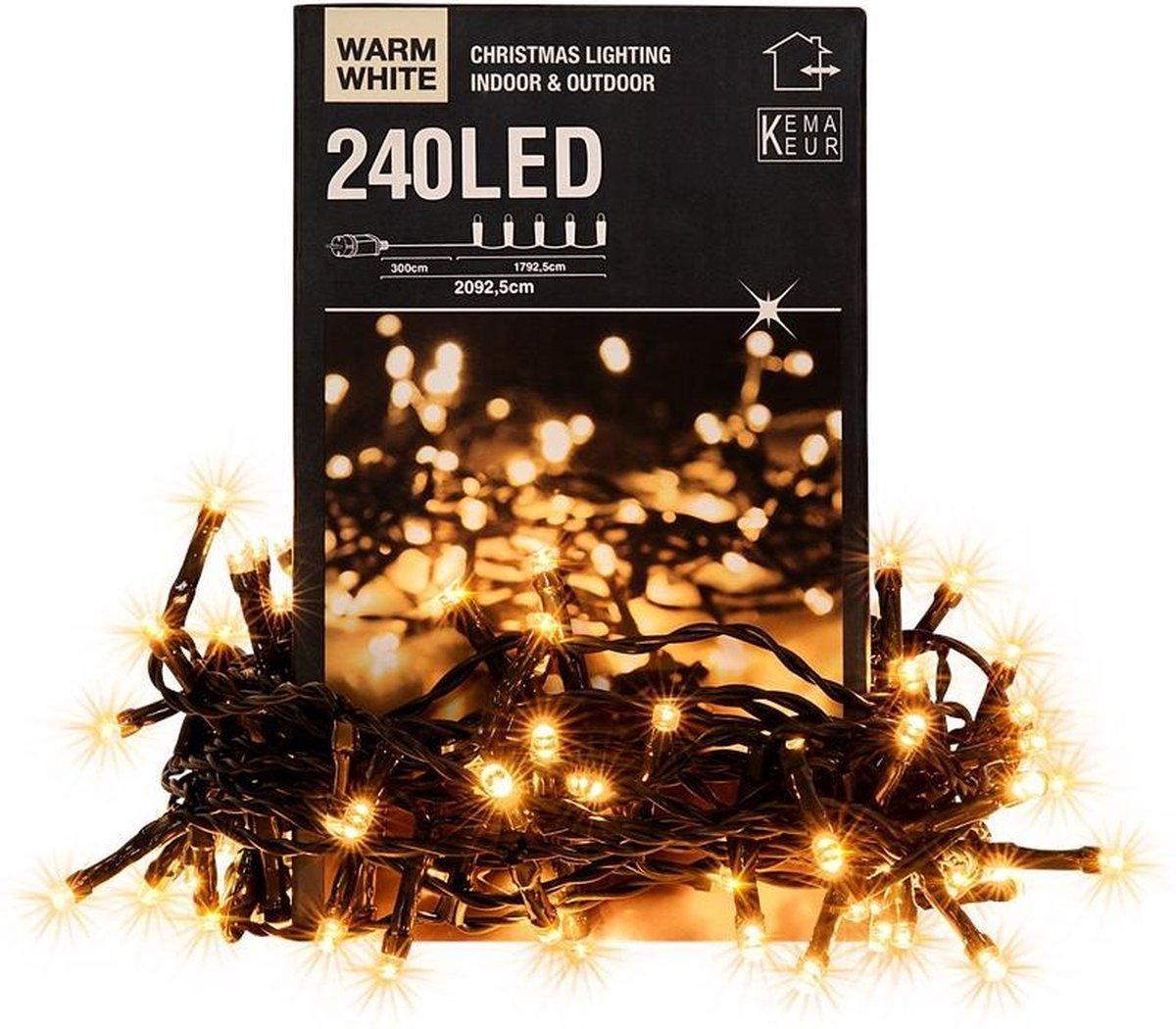 Kerstverlichting warm-wit 21 mtr 240 LED