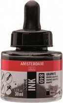 Amsterdam Acrylic Inkt Fles 30 ml Grafiet 840