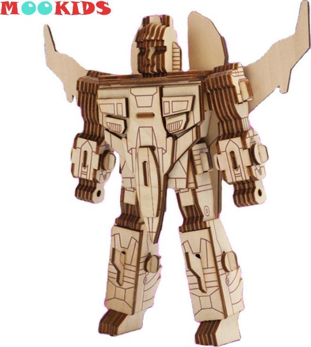 Mookids - Modelbouw Hout - 3D Puzzel - Robot Wings - 97 stukken