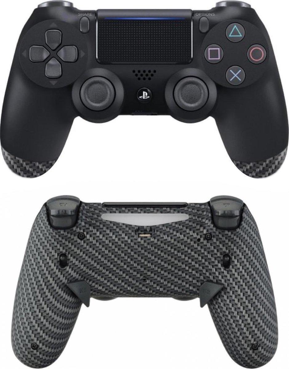 Sony DualShock 4 ELITE eSports Controller PS4 V2 – SCUF Remap MOD met Trigger Stops – Carbon Custom
