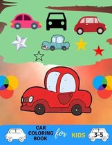 Car coloring book for kids 3-5