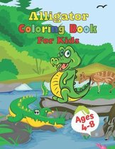 Alligator Coloring Book For Kids Ages 4-8