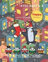 Happy Christmas! Activity Book Game For Kids Ages 4-8, Learning, Dots and Boxes, Tic-Tac-Toe, Gomoku, Pipelayer, Sim, Hangman and More!