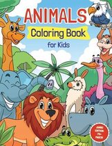 Animals Coloring Book for Kids Ages 4-8