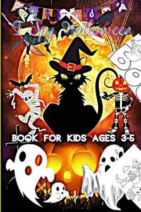 I Spy Halloween Book for Kids Ages 3-5: Halloween Coloring book For Kids -Halloween book -Halloween kids part 2