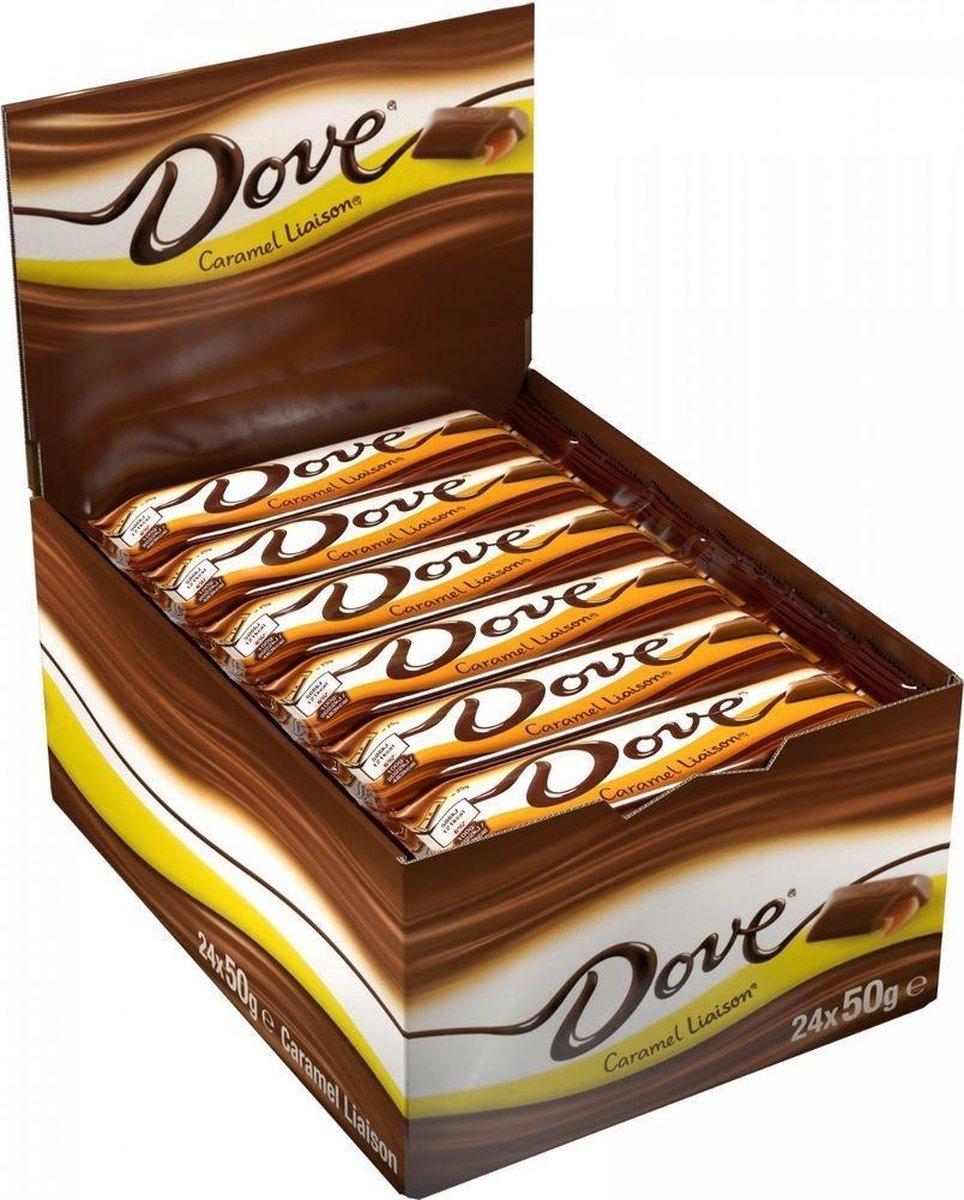 Dove Liaison Caramel chocolade repen - 24 x 50g