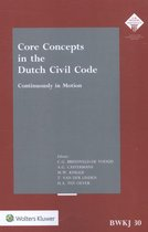 Core concepts in the Dutch civil code