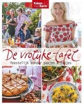 Boek cover De vrolijke tafel van Karin Luiten (Hardcover)