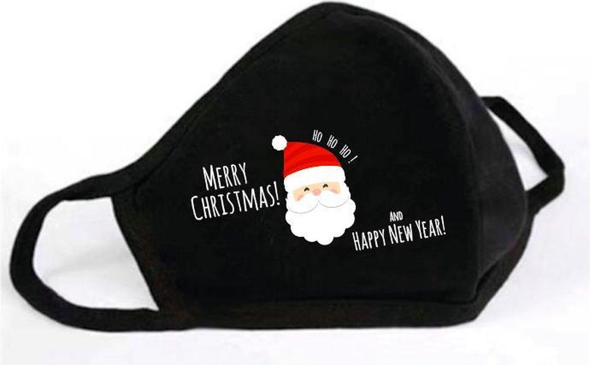 GetGlitterBaby - Katoen Mondkapje / Wasbaar Mondmasker - Kerst / Kerstman