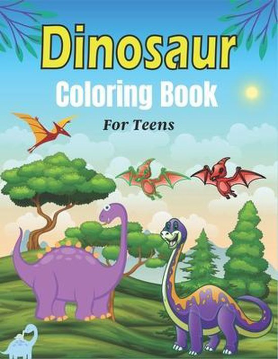 DINOSAUR Coloring Book For Teens