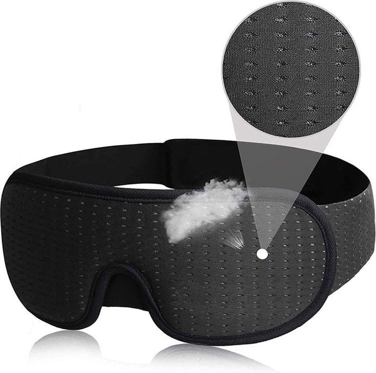 SleepCore  - Slaapmasker - 3D - Oog Masker - Ademend - Slapen - Ooglap - Licht blokkerend -Comfortab
