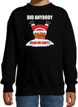 Fun Kerstsweater / Kerst trui  Did anybody hear my fart zwart voor kinderen - Kerstkleding / Christmas outfit 12-13 jaar (152/164) - Kersttrui