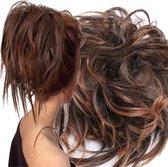 Haar Wrap Extension Half Lang Donker Bruin  Inclusief Luxe Bewaarzakje.