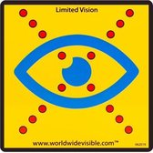 Limited Vision | Sticker | Herkenbaarheid | Reflecterend | Auto sticker | Laptop sticker