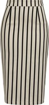 Collectif Mainline Polly Ghost Stripes Pencil Skirt EU 40 UK 14