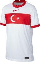 Nike Turkije Stadium  Sportshirt - Maat 152  - Unisex - wit/rood Maat L-152/158