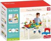 Kids Home Speeltafel + stoeltje roze + 2 opbergboxen