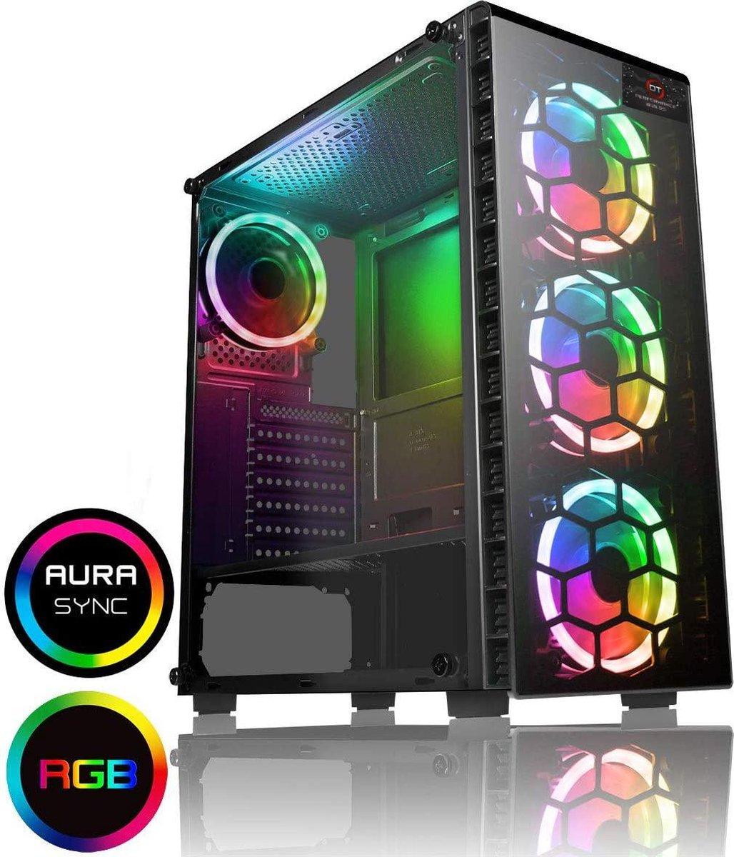 High-End Game PC – Ryzen 7 3700X 4,4Ghz, RTX 3060, 16GB , 250GB NVME SSD + 1TB HDD met RGB verlichting en WIFI