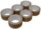 Verpakkingstape Bruin PP - Tape Bruin 6 rollen Bruine Tape 6 rollen