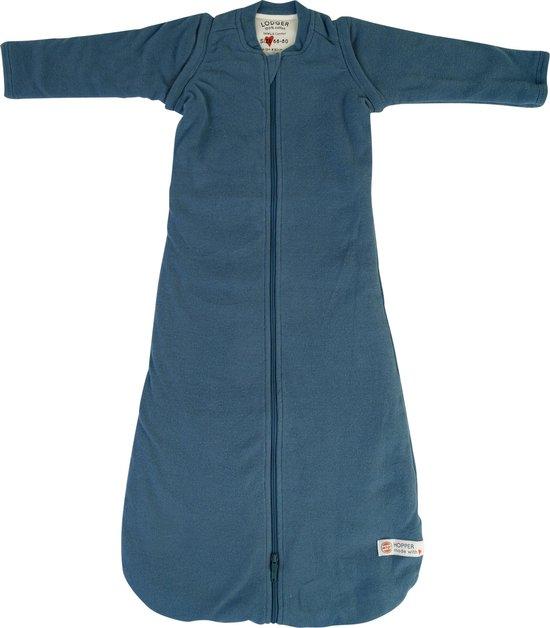 Lodger Baby Slaapzak Met Mouwen 4-12 maanden - Hopper Rib - 3,3 TOG - Afritsbare Mouwen - Gemakkelijk Verschonen - Deelbare Rits - Blauw - 68/80