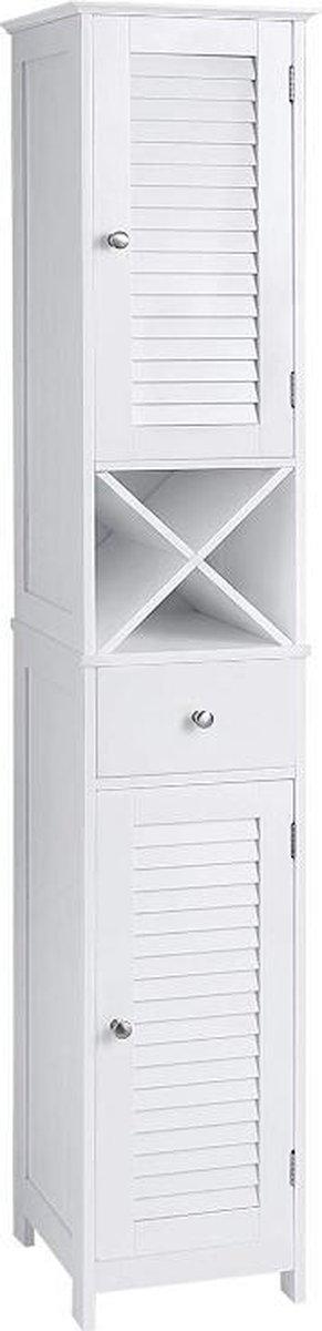 MIRA Home - Badkamermeubels - Hoge badkamermeubel - Landelijk - MDF - Wit - 32x30x170