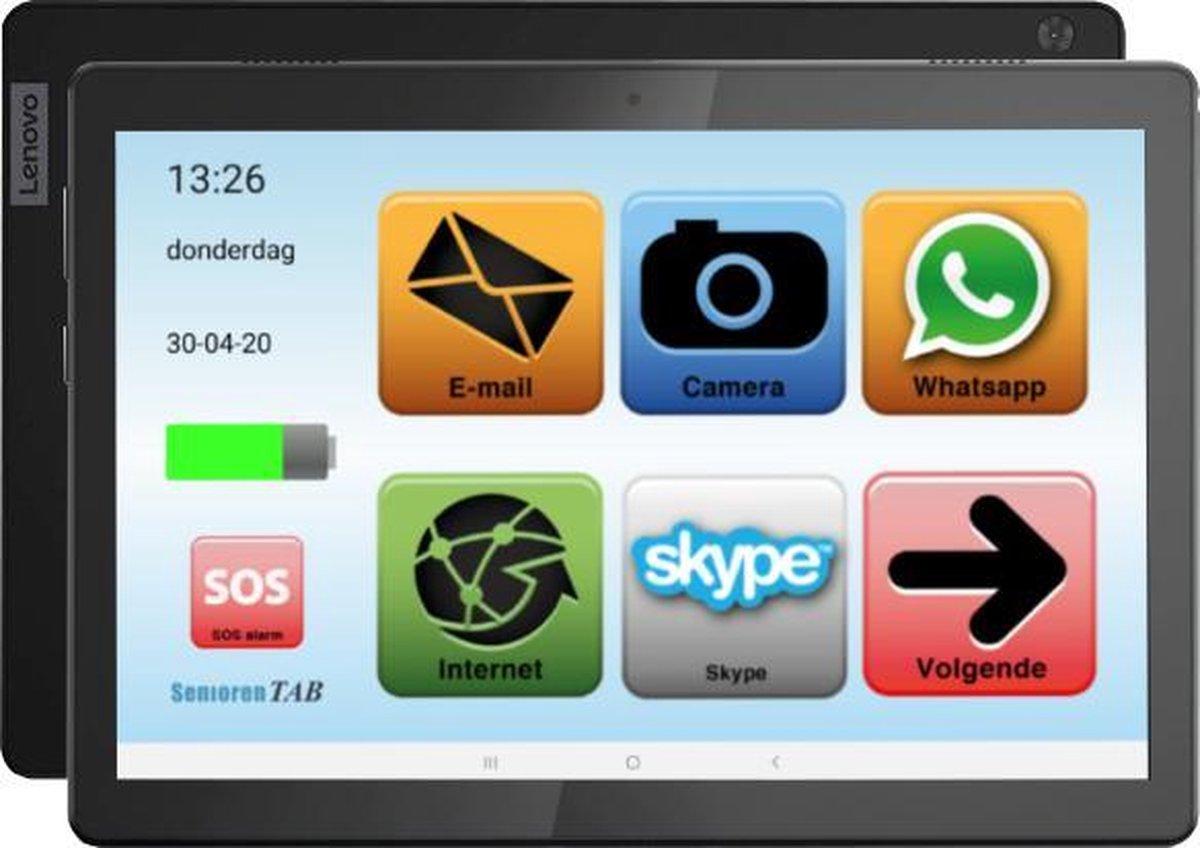 Senioren Tablet 32GB Wifi / 4G Vlaamse Versie (De officiële SeniorenTab op basis van een Lenovo Tablet)