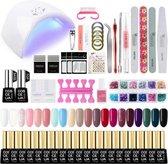 Gellak starterspakket 20 kleuren - Gellak set - UV lamp 36W - Manicure - Nagellak - Nail art - 20 kleuren gel polish - Nepnagels - Nagellakset - Gellakset