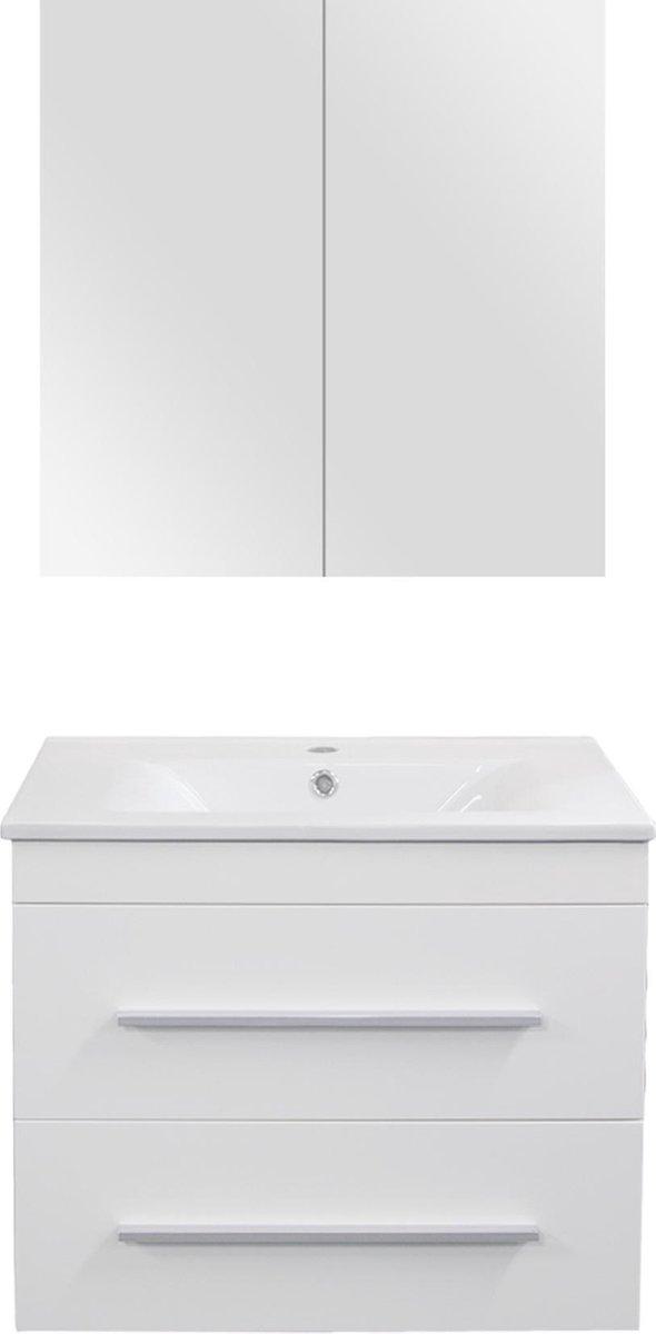 Differnz Style Badkamermeubel - 60 cm - Mat wit