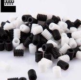 Koordstoppers mondmasker sillicone - 50 stuks - ZWART - voor elastiek mondkapje - GEAR3000®