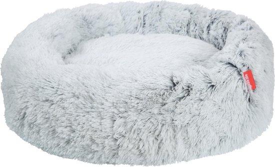 Snoozle Hondenmand - Superzacht en Luxe - Wasbaar - Donut - Fluffy - Hondenkussen - 100cm - Wolf Grey