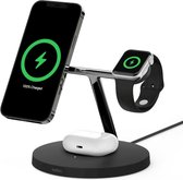 Belkin BOOST↑CHARGE™PRO 3-in-1 wireless charger met MagSafe - Zwart