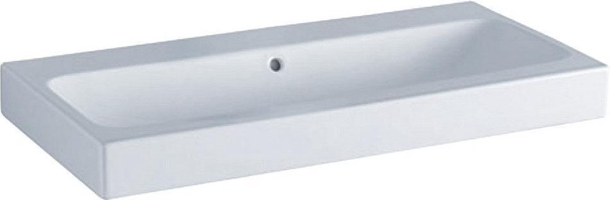 Geberit iCon wastafel zonder kraangat met overloop 90s48.5x16cm wit