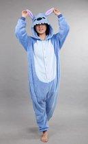KIMU Onesie Lilo & Stitch pak blauw - Stitchpak jumpsuit festival