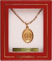 Ketting goud met hanger Maria goud. (6867)