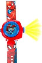 Jongenshorloge Spiderman met projectie functie