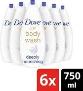 Dove Deeply Nourishing Douchecrème - 6 x 750 ml - Voordeelverpakking