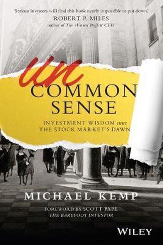 Boek cover Uncommon Sense van Michael Kemp (Paperback)