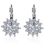 Victorious Dames Oorbellen – Zilver – Bergkristallen Sneeuwvlok