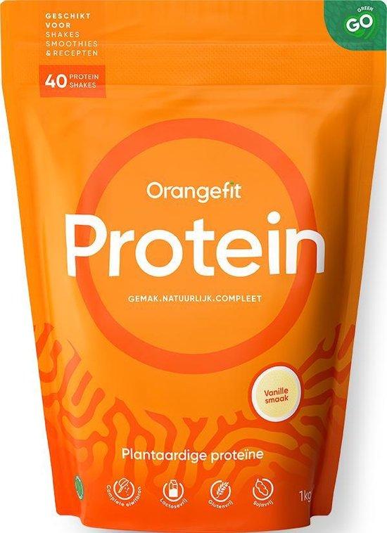 Orangefit Plantaardige Eiwitshake / Proteïne Poeder – Vanille – 450 gram
