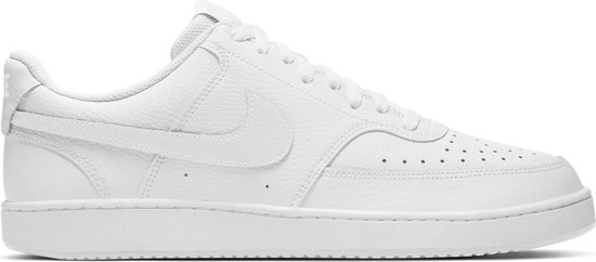 Nike Court Vision Low Heren Sneakers - White/White-White - Maat 45