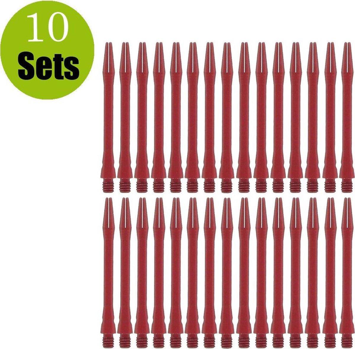 Aluminium Dart Shafts - Rood - Medium - (10 Sets)