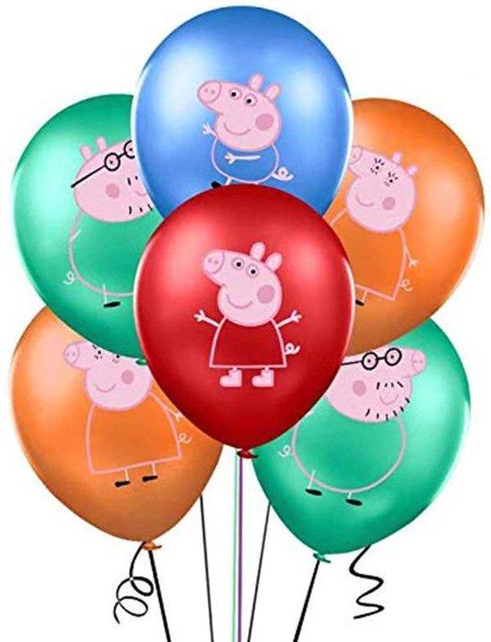 Peppa Pig George 16 ballonnen Mama Papa Big - kinderfeestje - verjaardag versiering - Latex ballon feestpakket