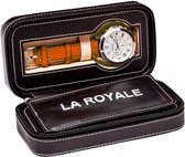LA ROYALE Viaggio 2 Reisetui - Zwart - 2 horloges
