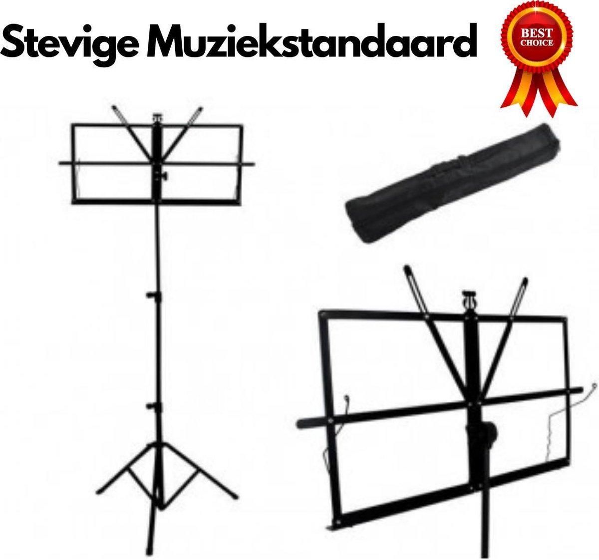Muziekstandaard Opklapbaar met Tas voor Bladmuziek - Lessenaar - Bladmuziek Standaard - Opvouwbaar