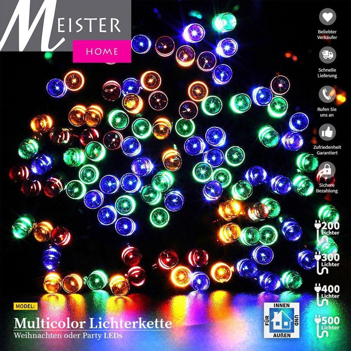 Meisterhome 400 led Multicolor - Kerstboom verlichting sfeer verlichting -Decoratie  Voor binnen & b